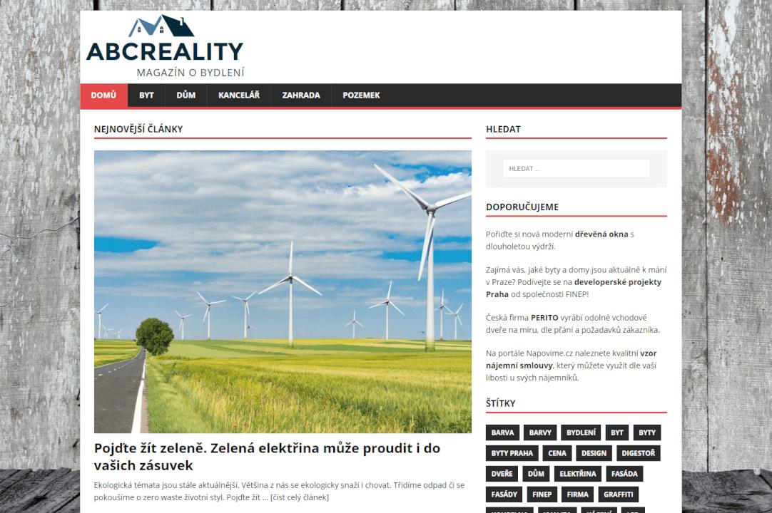 Publikujeme Váš PR článek na webu ABCreality.net