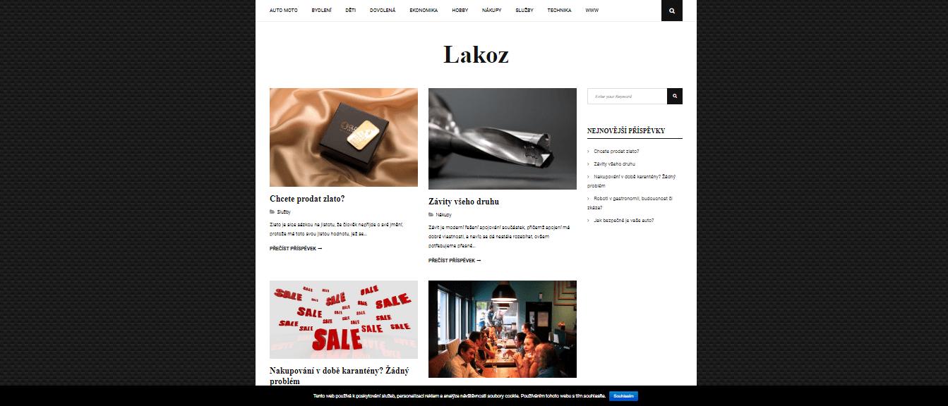 Publikace PR článku do magazínu lakoz.cz