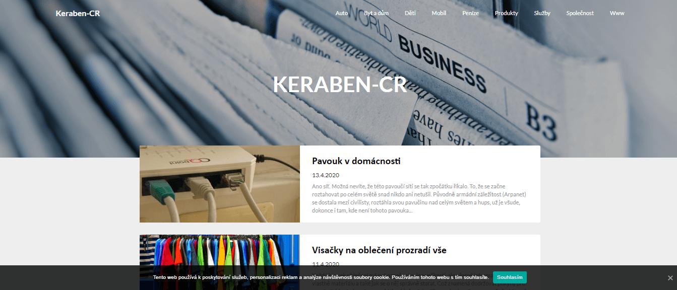 Publikace PR článku do magazínu keraben-cr.cz