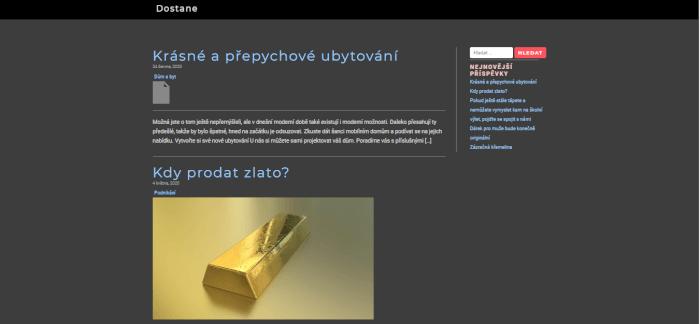Publikace PR článku do magazínu dostane.cz