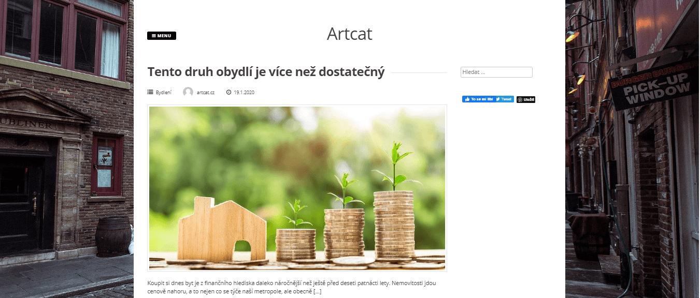 Publikace PR článku do magazínu artcat.cz