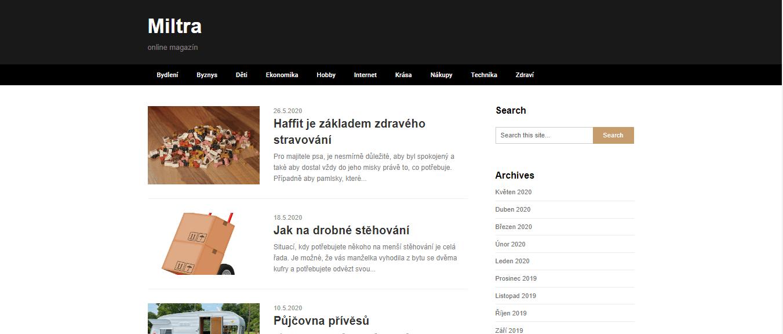 Publikace PR článku do magazínu miltra.cz