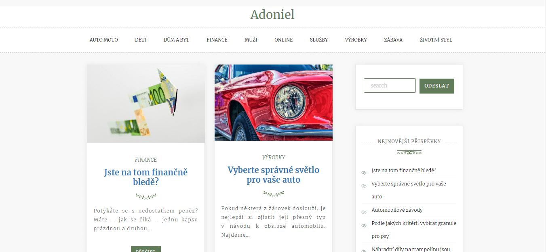 Publikace PR článku do magazínu adoniel.cz