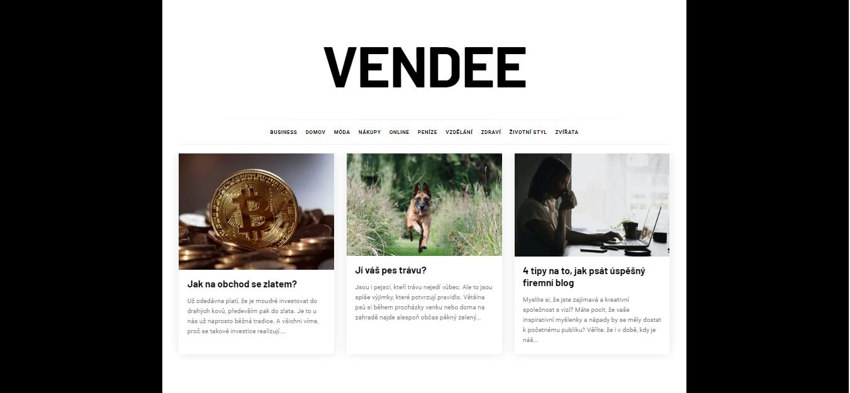 Publikace PR článku do magazínu vendee.cz