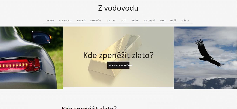 Publikace PR článku do magazínu zvodovodu.cz