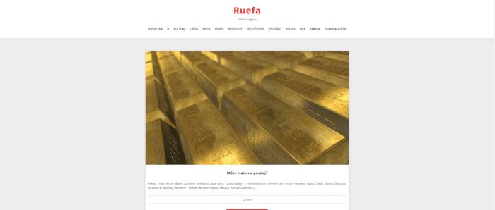 Publikace PR článku do magazínu ruefa.cz