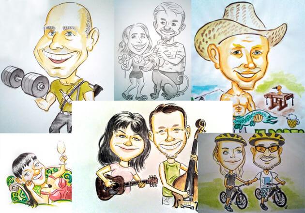 Karikatura barevná A3 (A4) dle fotografie