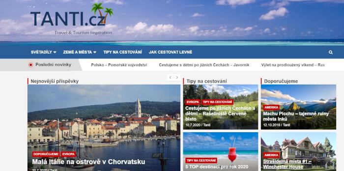 Publikace článku na cestovatelském webu
