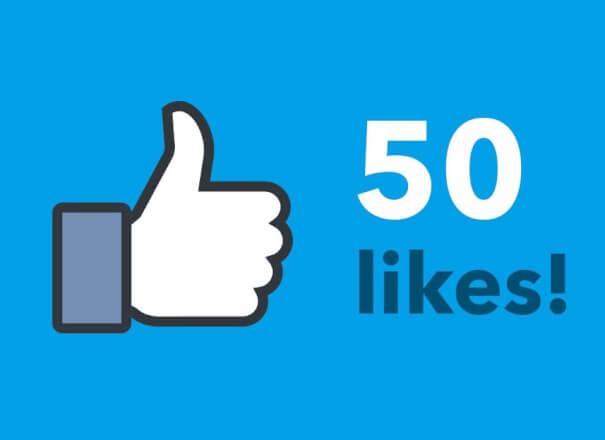 50 Like na stránku, pouze CZ uživatelé