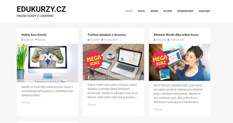 Publikování PR článku na webu EDUKURZY.cz