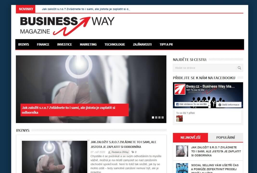 Publikace článku v podnikatelském a finančním magazínu