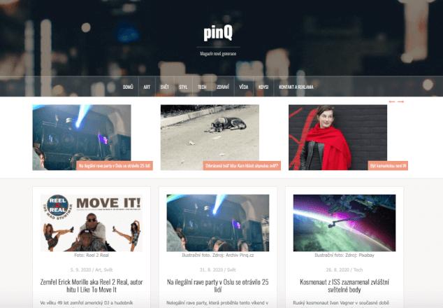Publikace PR článku v lifestyle magazínu Pinq.cz