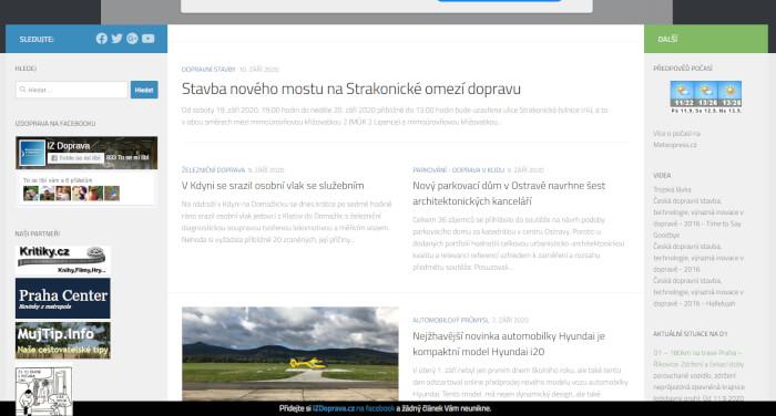 Publikace Vašeho článku na webu dopravního zaměření