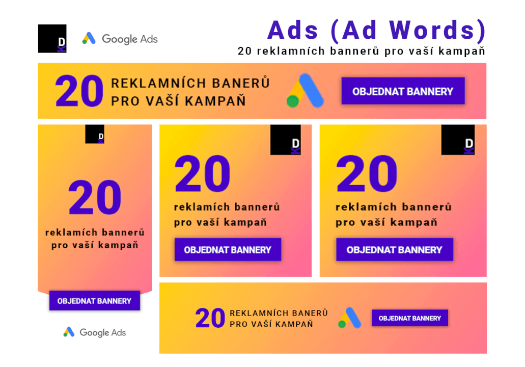 Ads (Ad Words) - 20 Reklamních bannerů