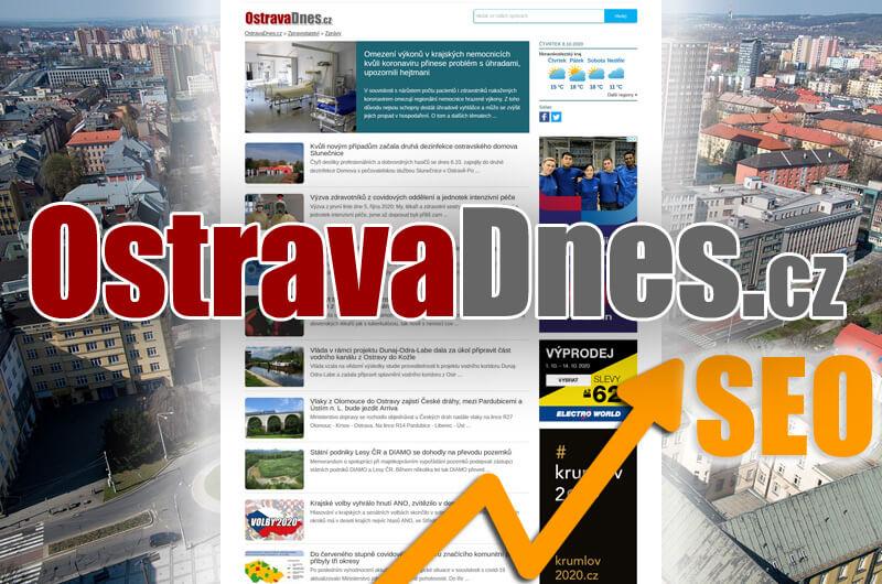 Trvalá publikace PR článku na portálu OstravaDnes.cz