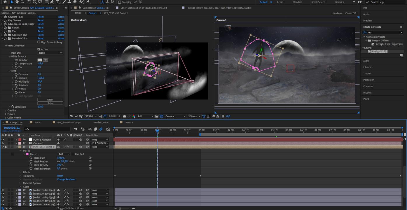 Tvorba animace, střih videa nebo vizuální efekty?