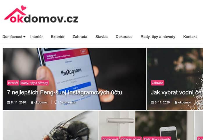 Umístění odkazu do již publikovaného článku na OKdomov.cz
