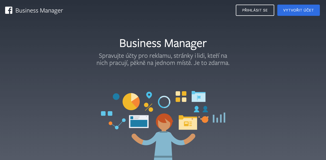 Založení či nastavení Facebook Business Manageru