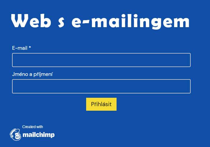 Web s vlastním e-mailingem