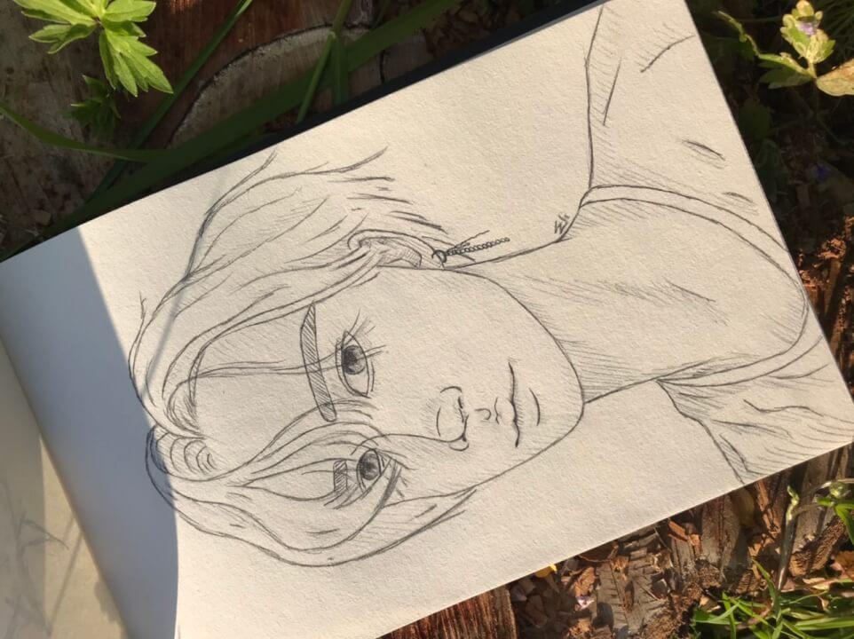 Minimalistický portrét