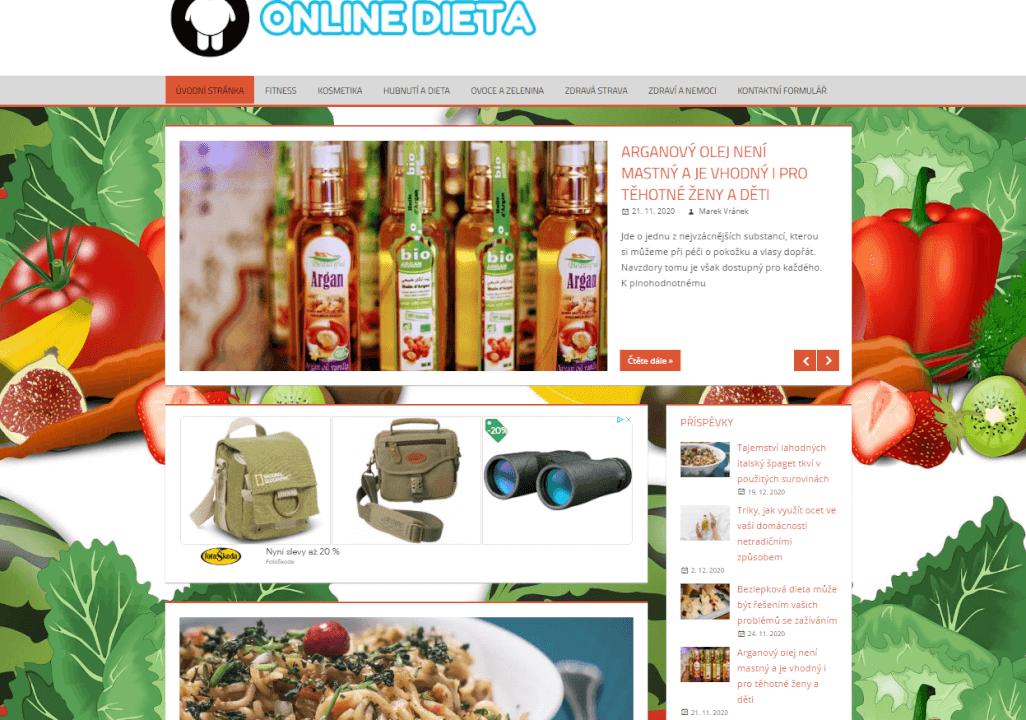 Publikace článku na online-dieta.cz