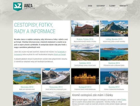 Odkaz na webu o cestování
