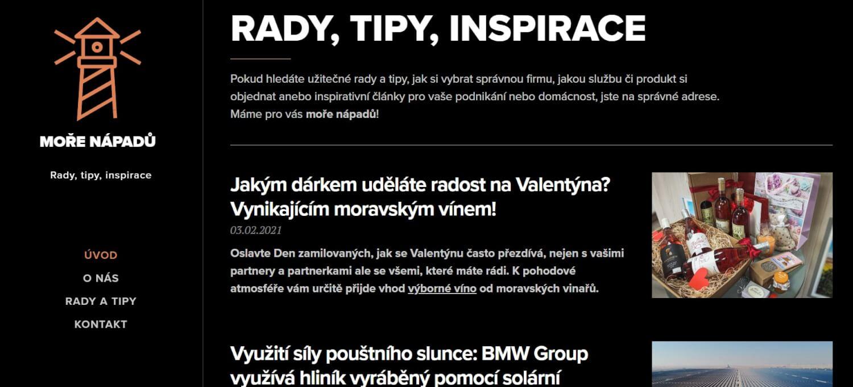 PR článek na MoreNapadu.cz