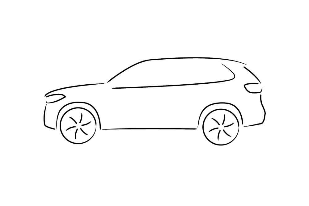 Jednoduchý nákres auta