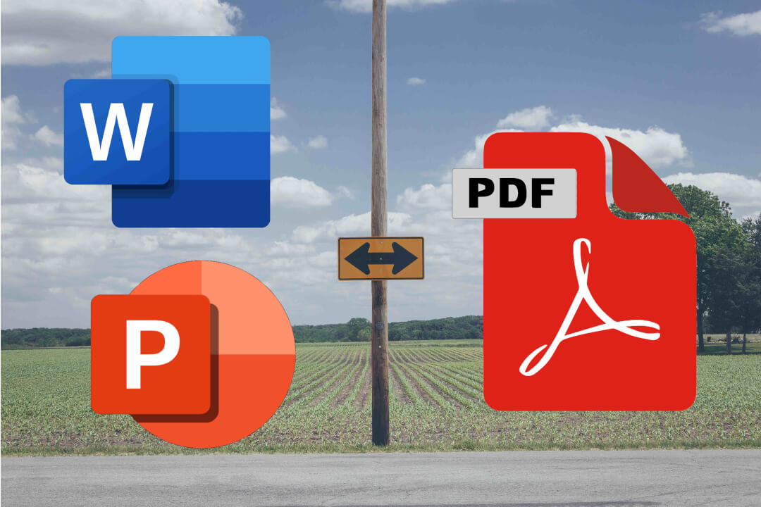 Převod PDF na dokument MS Office (Word/Powerpoint)