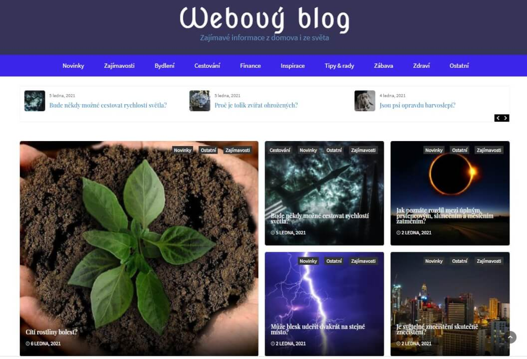 Publikace na w-blog.cz