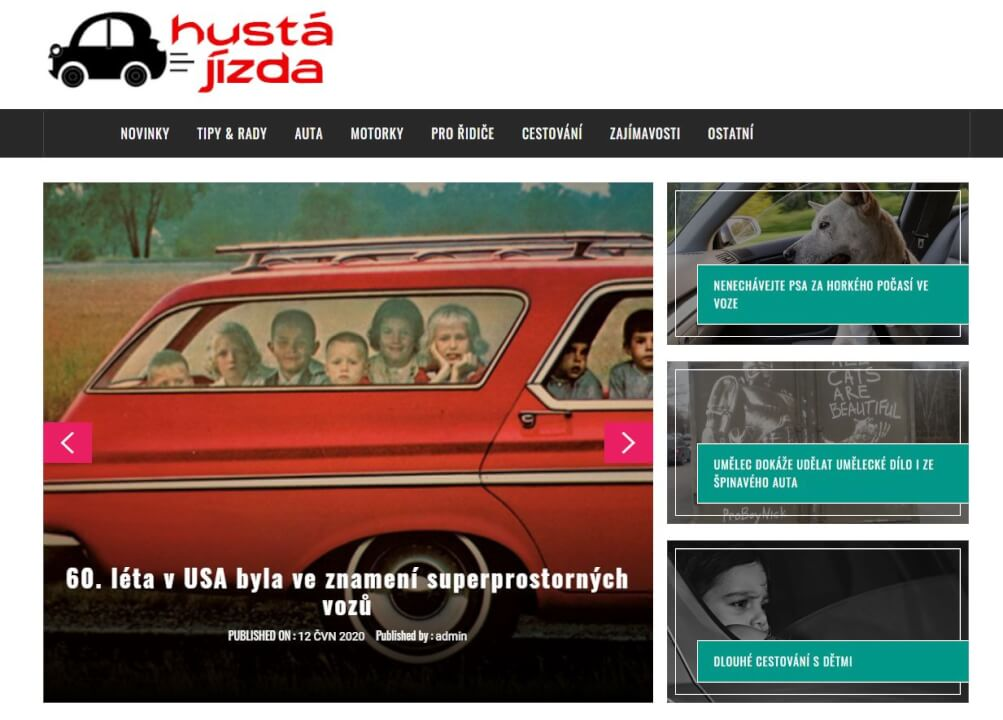 Publikace na hustajizda.cz