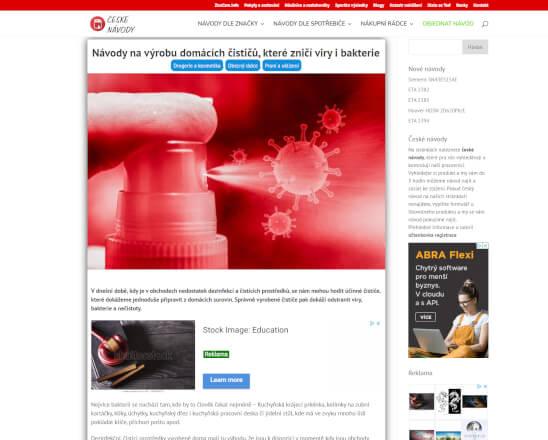 PR článek na navštěvovaném webu