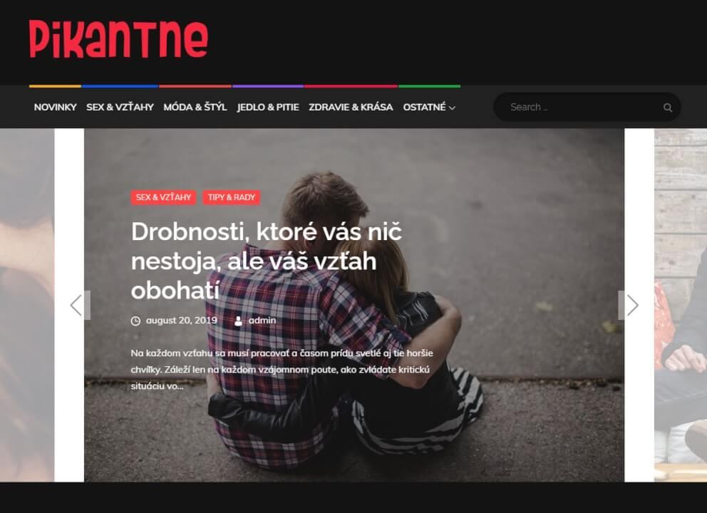 Publikace na Pikantne.sk