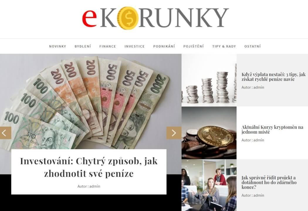 Publikace na e-korunky.cz