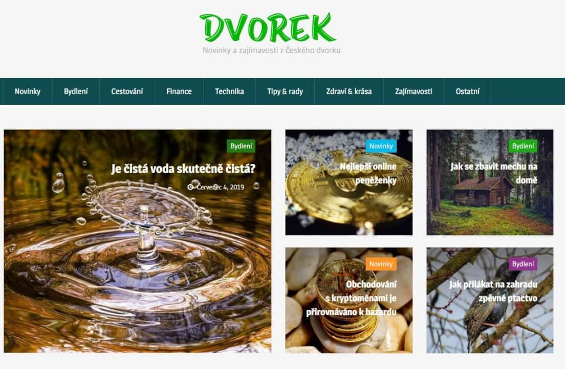 Publikace na Dvorek.eu