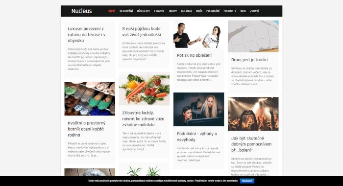 Publikace PR článku do magazínu nucleus.cz
