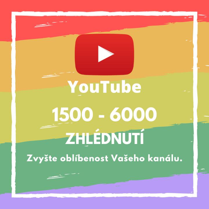 1500 až 6000 zhlédnutí pro Vaše video na YouTube